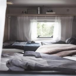 Die Betten im Heck