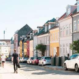 in den Straßen von Aarhus