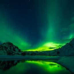 Island - die Wetterleuchten Aurora Borealis