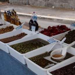 Olivenparadies aufm Markt in Gaeta