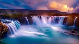 Godafoss Wasserfälle
