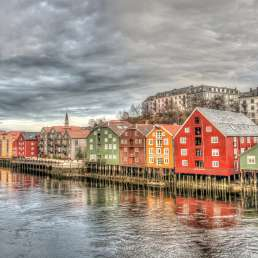 Pfahlbauten in Trondheim