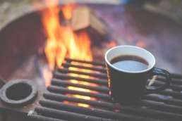 Kaffee am Lagerfeuer