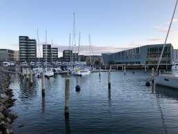 Blick auf den Stellplatz am mondänen Nyhavn 2