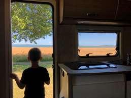 Aussicht ausm Wohnmobil - Camperglück auf Fyn in Dänemark