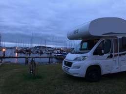 Wohnmobil Stellplatz direkt am Hafen auf Fyn in Dänemark