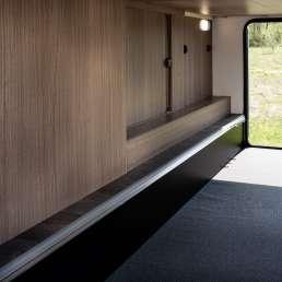 Riesige Heckgarage im Wohnmobil Finca