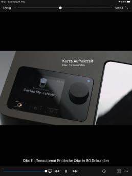 rklärvideos - Video zum Bedienen der Qbo Kaffeemaschine