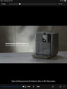 Erklärvideos - Video zum Kennenlernen der Qbo Kaffeemaschine