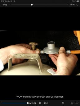 Erklärvideos - Video zur Bedienung der Gasanlage