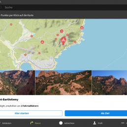 Infozentrale - Fahrradweg in Kartenansicht