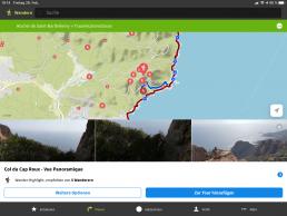 Infozentrale - Wanderwege in der Kartenübersicht
