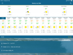 Infozentrale - Wetterinfos kommende Tage