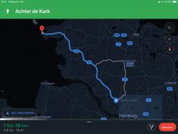 Navi mit Google Maps - Routenansicht