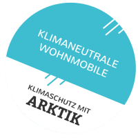 Logo Arktik Klimaneutrale Wohnmobile gedreht