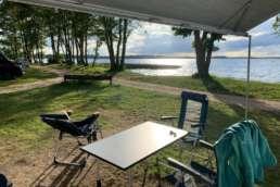 Aussicht vom Stadt Land Camp! Wohnmobil am Plauer See