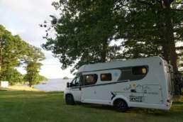 Camping am Bolmen See - direkt an der Wasserkante