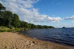 Der Strand am Plauer See