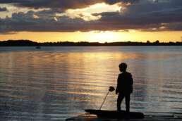 Traumhafte Sonnenuntergänge am Plauer See auf dem Campingplatz Zwei Seen