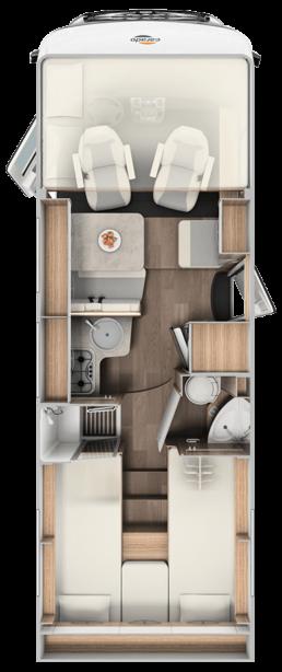 Wohnmobil Die Villa - Grundriss