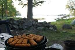 """auf dem Natur-Campingplatz Getnö Gard im """"Lake Åsnen Resort"""" schmeckt jede Mahlzeit"""