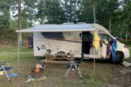 """der nächste Nachbar ist u. U. weit weg auf dem Natur-Campingplatz Getnö Gard im """"Lake Åsnen Resort"""""""
