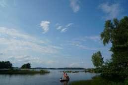 flugs das SUP ausprobiert auf dem Åsnen See