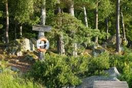 """gute Infrastruktur auf dem Natur-Campingplatz Getnö Gard im """"Lake Åsnen Resort"""""""