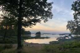 """jeder Moment ein Schauspiel auf dem Natur-Campingplatz Getnö Gard im """"Lake Åsnen Resort"""""""