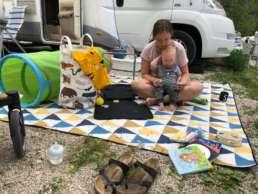 Campingplatz & gleichzeitig Spielzimmer outdoor am Toblacher See