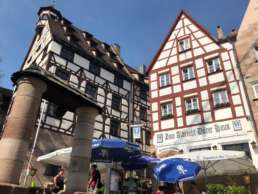 Nürnberg - schöne Altstadt mit Fachwerk