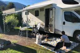 zweiter Stopp am Bodensee - schnell Ess- und Wohnzimmer nach draußen verlagert