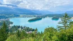 Aussicht auf den traumhaft schönen Faaker See