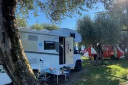 Camping auf der Landzunge, umspült vom Gardasee