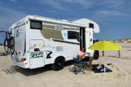 Mit dem Wohnmobil von Stadt Land Camp am Strand von St. Peter-Ording