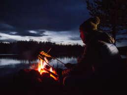 Lagerfeuer und Stockbrot in Jokkmokk
