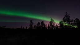 Polarlicht als Regenbogen-Imitation