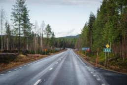 viele Kilometer sehen so aus auf `nem Roadtrip in Schweden