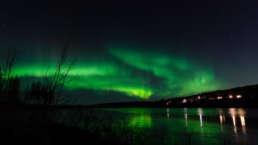 nördlich des Polarkreises werden einem in Schweden wunderschöne Nordlichter geboten - wenn man Glück hat